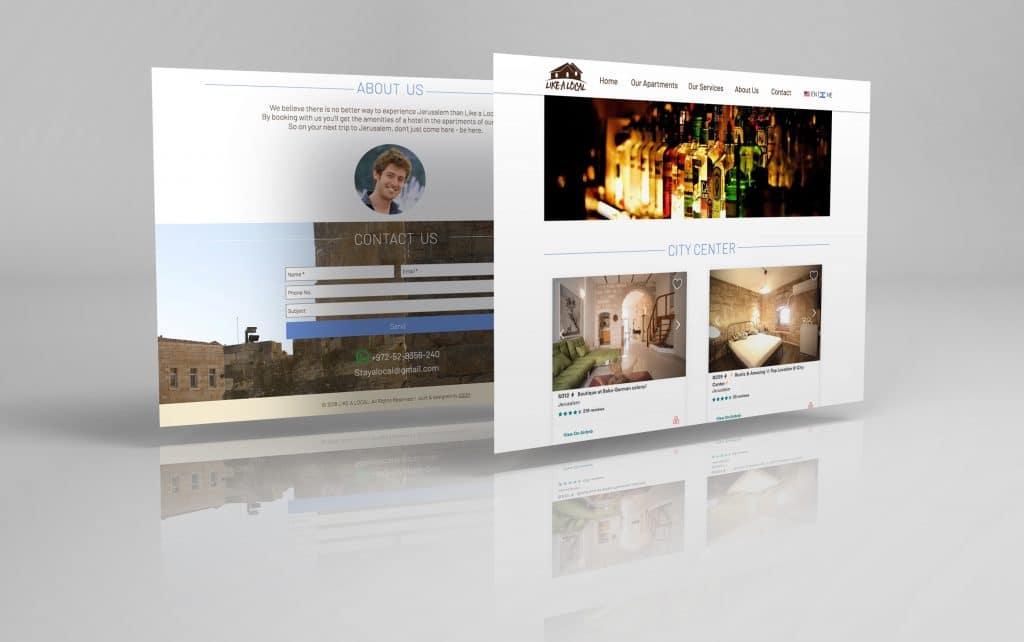 עיצוב ובניית אתר וויקס ל-stay like a local